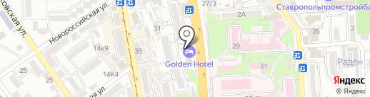 Golden Hotel на карте Пятигорска