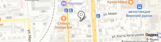Почтовое отделение №2 на карте Пятигорска