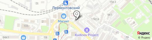 Тутси на карте Пятигорска