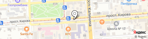 Корвет на карте Пятигорска