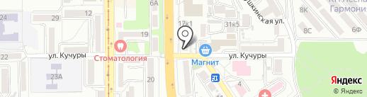 Барс на карте Пятигорска