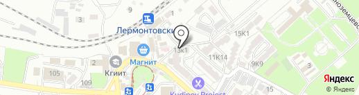 Кардан на карте Пятигорска