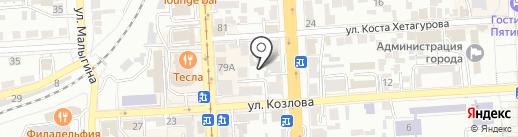 Анжелика на карте Пятигорска
