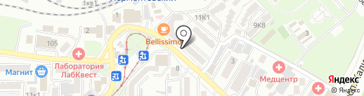 Форс на карте Пятигорска