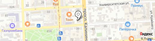 Московский индустриальный банк на карте Пятигорска