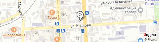 Хамелеон на карте Пятигорска