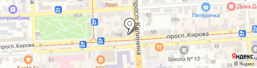 Комильфо на карте Пятигорска