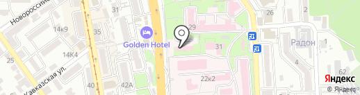 Пятигорский онкологический диспансер на карте Пятигорска