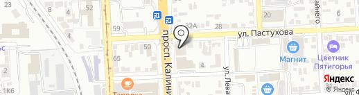 Ставвер на карте Пятигорска