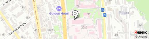 Городская клиническая больница г. Пятигорска на карте Пятигорска