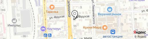Балц на карте Пятигорска