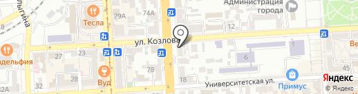 Салюта на карте Пятигорска