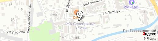Серебряные ключи на карте Пятигорска