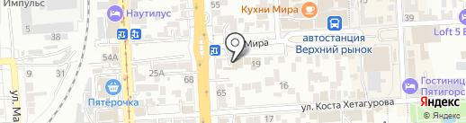 Гринвич на карте Пятигорска