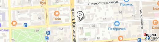 Gambas на карте Пятигорска
