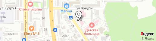 Центральная детская поликлиника на карте Пятигорска