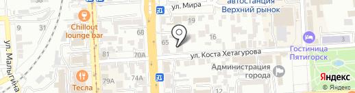 ЛИРА, ЗАО на карте Пятигорска