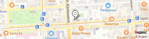 Детская художественная школа на карте Пятигорска