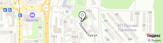 Общежитие на карте Пятигорска