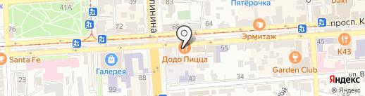 Дон Капучино на карте Пятигорска