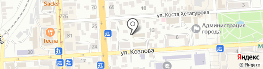 Служба на КМВ Управления ФСБ РФ по Ставропольскому краю в г. Пятигорске на карте Пятигорска