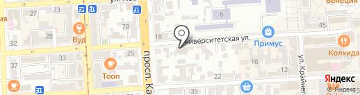 Мировые судьи г. Пятигорска на карте Пятигорска