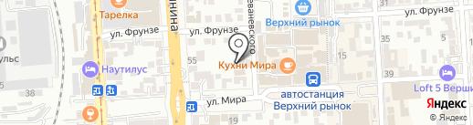 Фасон на карте Пятигорска