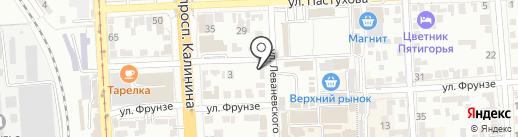 ДружОК на карте Пятигорска
