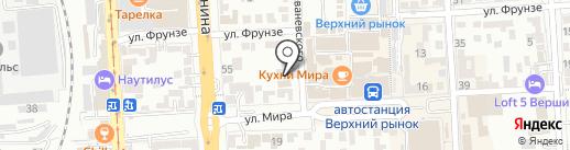 Автосервис на карте Пятигорска