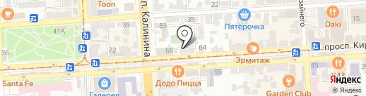 Стильное женское пальто на карте Пятигорска