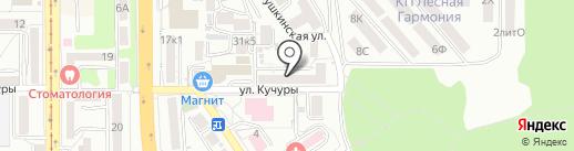 Эк-Рост на карте Пятигорска