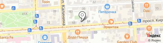 Алина на карте Пятигорска