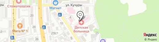 Детская городская больница на карте Пятигорска