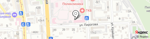 Станция скорой медицинской помощи на карте Пятигорска
