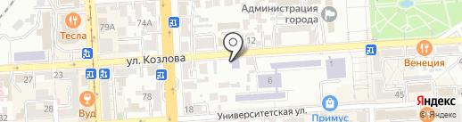 Детский сад №17, Золотой ключик на карте Пятигорска