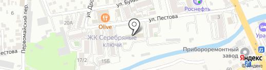СТРОП-II на карте Пятигорска