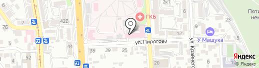 Скорая медицинская помощь на карте Пятигорска