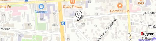 Белоснежка на карте Пятигорска