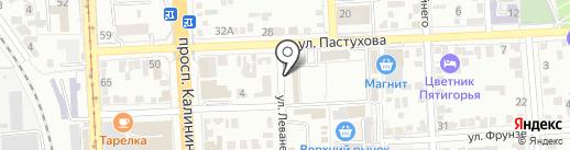 Контур на карте Пятигорска