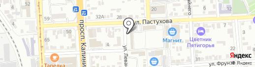 Магазин карнизов на карте Пятигорска