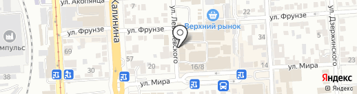 Тенториум на карте Пятигорска