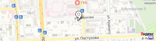 Гигиея на карте Пятигорска
