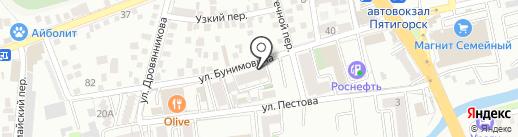 Хозмаркет на карте Пятигорска