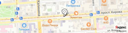 Арлекин на карте Пятигорска