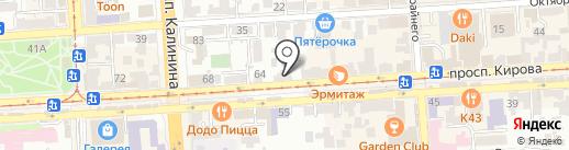 БелМода на карте Пятигорска