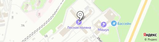 Лесная поляна на карте Пятигорска
