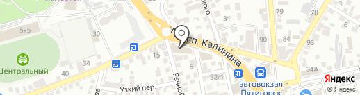 ZARRA на карте Пятигорска