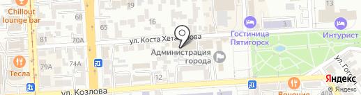 Центральная котельная на карте Пятигорска