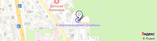 Бумага-СКФО на карте Пятигорска