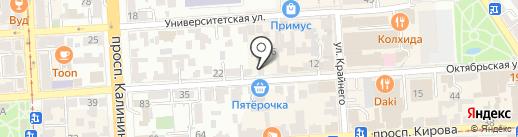 Парильщик на карте Пятигорска